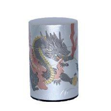 彫刻缶 ドラゴン(シルバー)100g