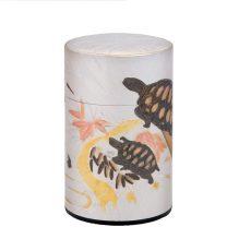 彫刻缶 鶴と亀 100g