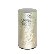 彫刻缶 扇(銀) 200g