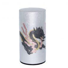 彫刻缶 ドラゴン(ダークグレー)200g
