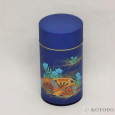 印刷缶 200g 桔梗(紺)