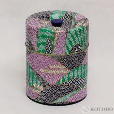 印刷缶 平型 560g しぼり(青)
