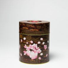 印刷缶 平型 750g 桜