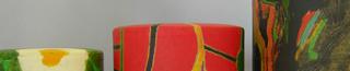 色彩豊かなアート茶筒